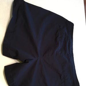 Old Navy blue shorts.  Size 16.  Thigh length